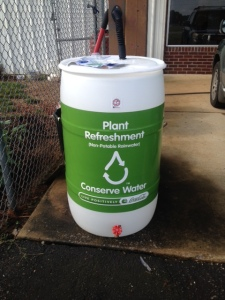 Finished Rain Barrel Project