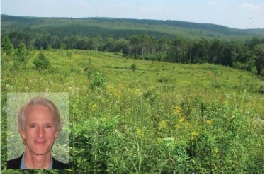 Bob Harbin; a field with wildflowers on his easement property