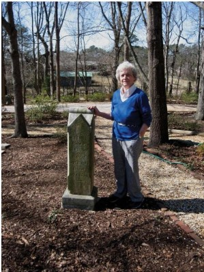 Phyllis Weaver at the historic cemetery near her home