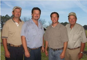 SIx generations: L-R, Bryan, Terry, Vince and R.T. Stanley